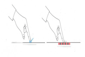 ایجاد بافت بر روی صفحات نمایش لمسی توسط فوجیتسو
