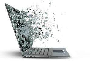شکسته شدن ال سی دی لپ تاپ فوجیتسو