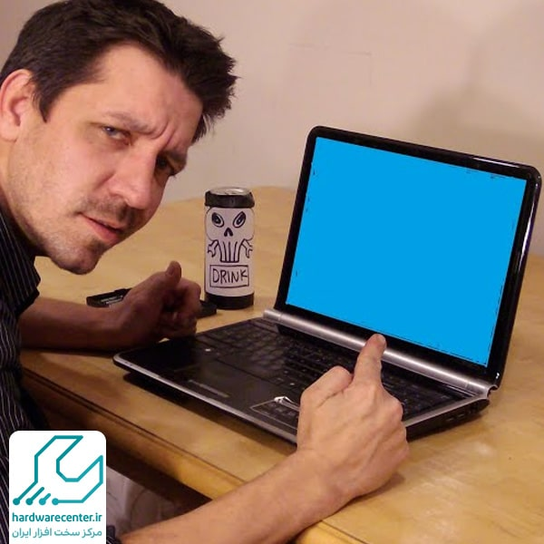 آبی شدن صفحه لپ تاپ